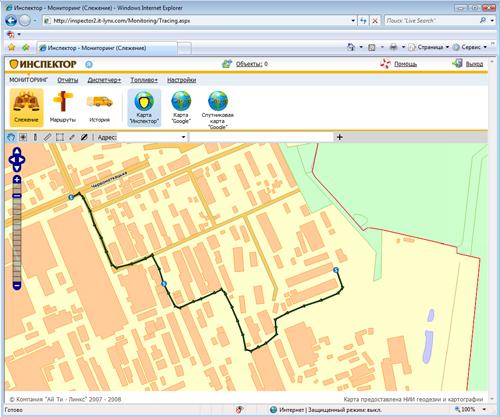 Завод Радикал - маршрут на карте Инспектор